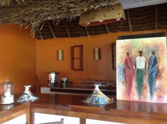 Ngalawa Beach Village: Part of Dining-room area.