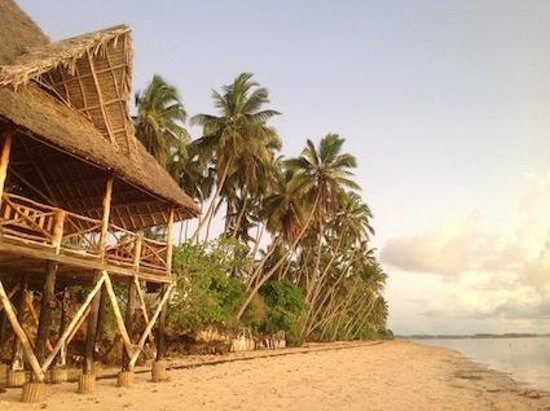 Ngalawa Beach Village: The Deck from the beach.