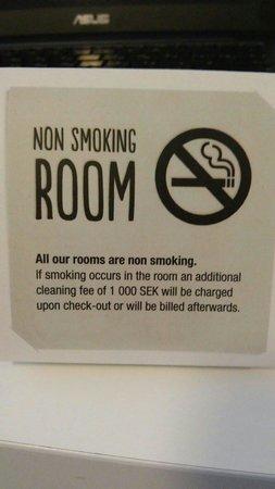 Scandic S:t Jörgen: Курить нельзя