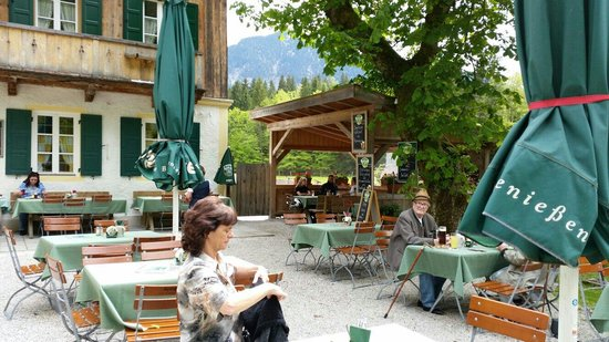 Gasthaus Post Vorderriß: Biergarten