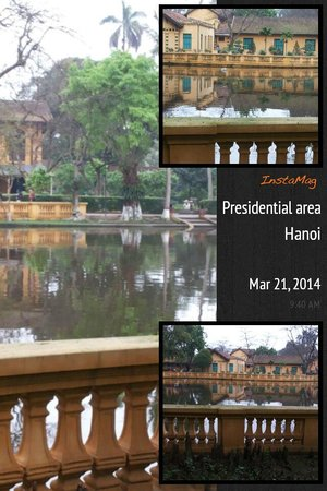 Ho Chi Minh Presidential Palace Historical Site : a big pond