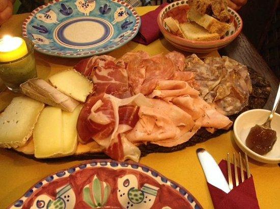 Cacio Vino Trallallà : Mixed meat & cheese plate
