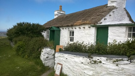 The National Folk Museum at Cregneash: one of the cottages and tea room