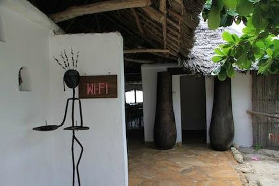 The Rock : The entrance of the restaurant, and yes; free wi-fi.