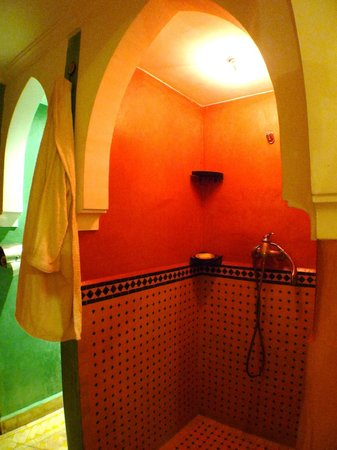 Riad Layla Rouge : separate shower/toilet , but no door