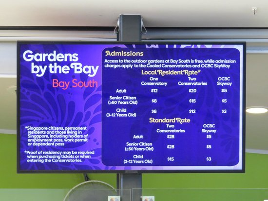gardens by the bay harga tiket - Garden By The Bay Fee