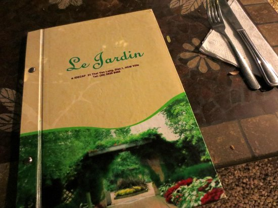 Menu picture of le jardin ho chi minh city tripadvisor for Jardin lee menu