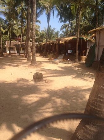 Om Sai Beach Huts: from the beach