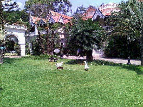 Taj West End : front Garden