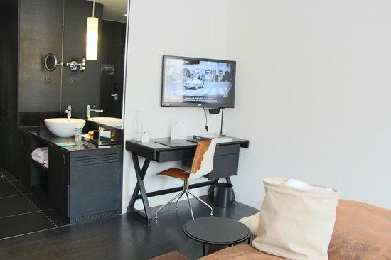 American Hotel Amsterdam : Chambre, salle de toilette