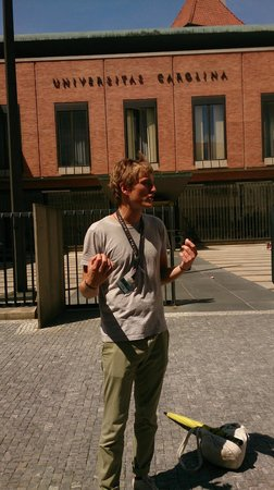 Discover Prague Tours : Chris in action...