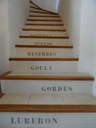 Mas de la Romane : the stairs...all the beautiful villages...