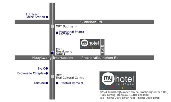 Myhotel Cmyk@Ratchada : Map of My Hotel CMYK@ratchada