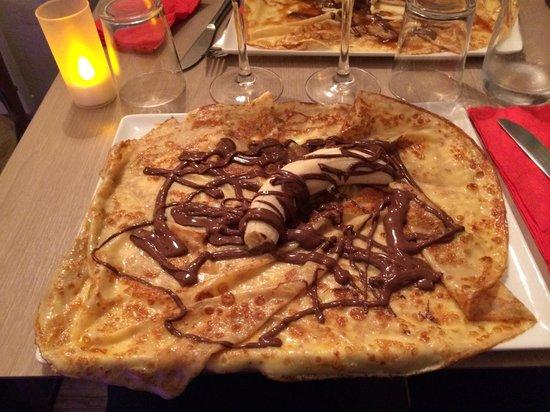 Le Ble Noir: Crêpe Nutella+banane!