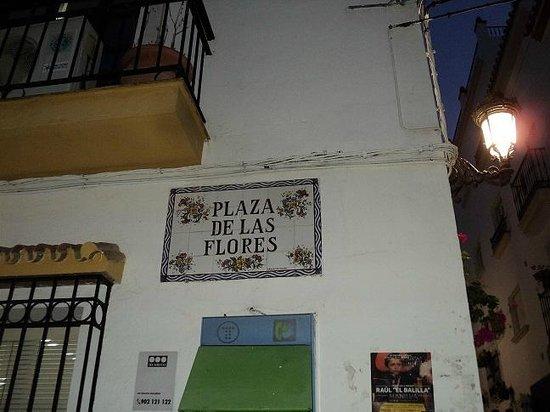 Plaza de las Flores de Estepona: Вот она!