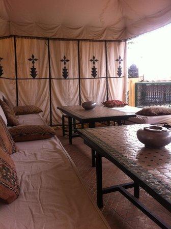 Riad Karmela: Upper terrace