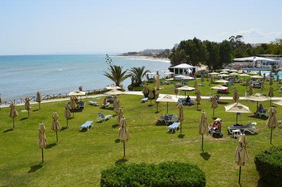 Hammamet Beach: Vista de la playa desde el hotel