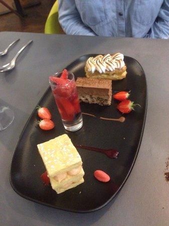 La Villa Margot: Assiette assortiment de desserts !