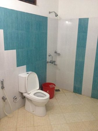 Jeevan Beach Resort: spacious clean shower room