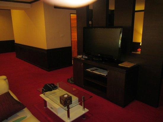 Major Grand Hotel: The big screen TV.