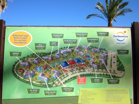 Property map Picture of PortAventura Hotel Caribe Salou TripAdvisor