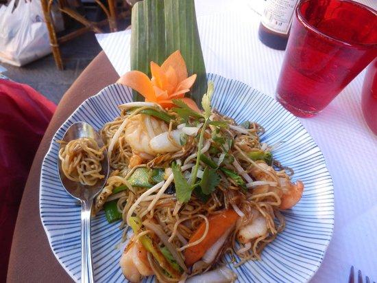 Ancre de Chine : spaghetti salatati con gamberi