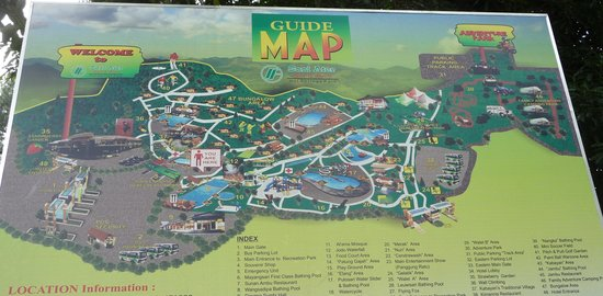 Guide Map Picture of Sari Ater Hot Spring Bandung TripAdvisor