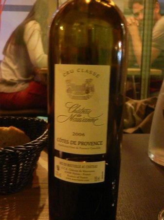 HANgoût Restaurant : vino provenzale del 2006