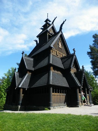 Musée folklorique norvégien : Stave church brought from Gol to Oslo in the late 1800's