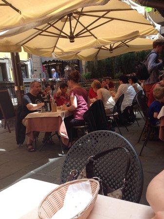 Antico Pozzo Restaurant : View of terrace