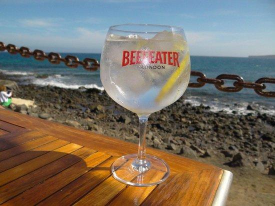 Playa Quemada, Spain: La copa que te hace quedarte en este lugar tan acogedor.