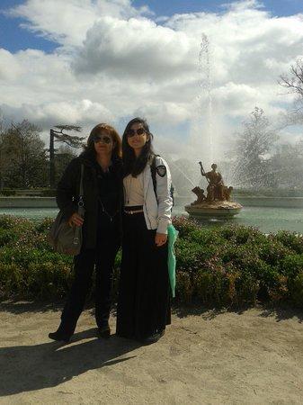 Royal Palace of Aranjuez : Jardìn Palacio Real con mamma