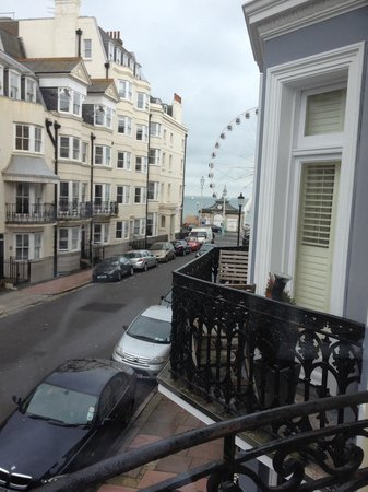 Grand Pier Guest House: View to the big wheel from superior double room 5