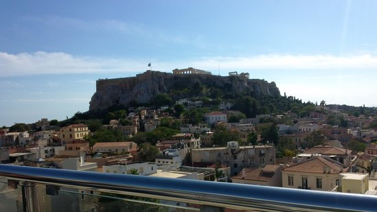 Central Athens Hotel : The Acropolis view from the terrace