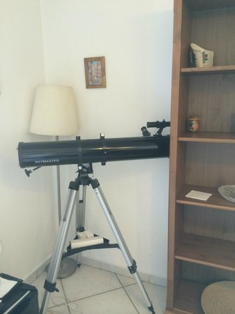Certe Notti Suites - Pompei: So Cool!  A Telescope in our Room