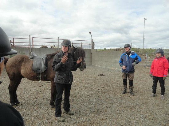 Islenski Hesturinn, The Icelandic Horse - Riding Tours: Begga giving the pre-ride introduction