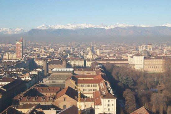 Mole Antonelliana : Centro histórico de Turin y los Alpes