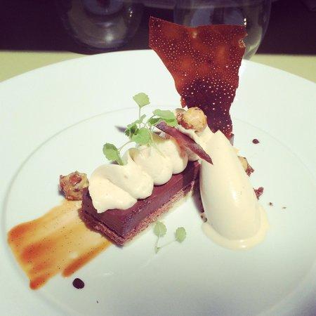 la Table 2 Julien : Délice de chocolat et sa glace maison