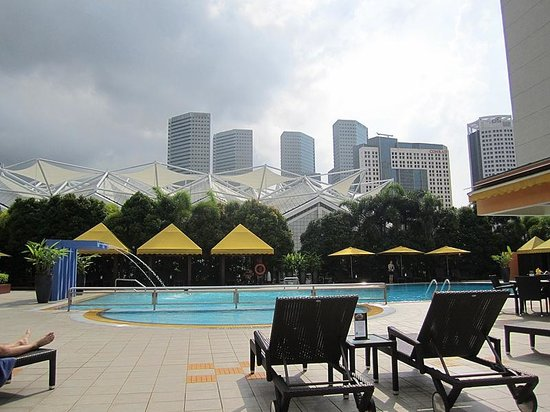 Premier room picture of marina mandarin singapore for Pool garden marina mandarin