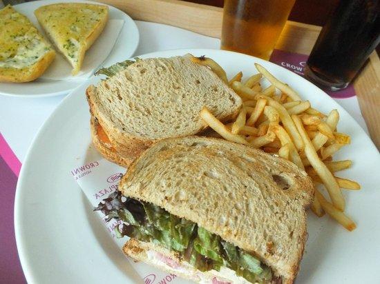 Crowne Plaza Hotel Birmingham NEC: Room service,club sandwich.