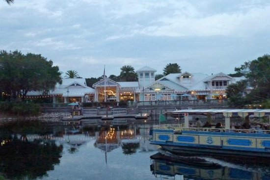 Disney's Old Key West Resort: OKW boat dock and guest service area