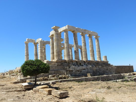 George's Taxi : Temple of Poseidon, Sounion Greece
