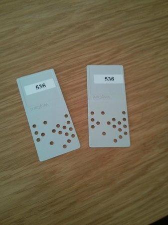 Thon Hotel Storgata: Punch card keys