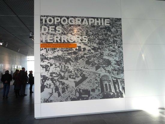 Topography of Terror: いきなりバーンとこういう展示があります。