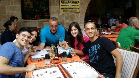 Mama Sofia's: Stavros and us.  Thank you Stavros!!