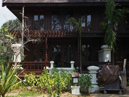 Tanjong Jara Resort: Serambi Room below, Bumbung Room above (stairs to the latter located at the back of the building