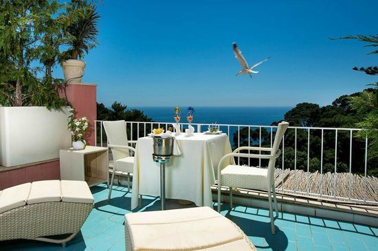 Hotel La Vega: Terrazzo vista mare