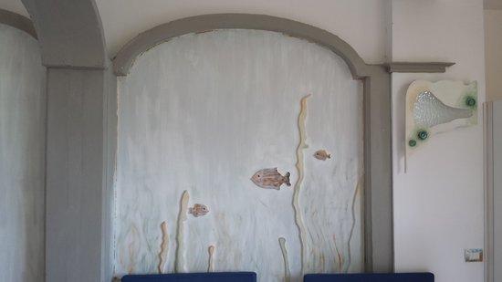 Casa Mazzola B&B : particolare delle decorazioni della camera
