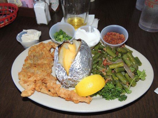 Morton's Seafood Restaurant and Bar: Single soft shell crab dinner.