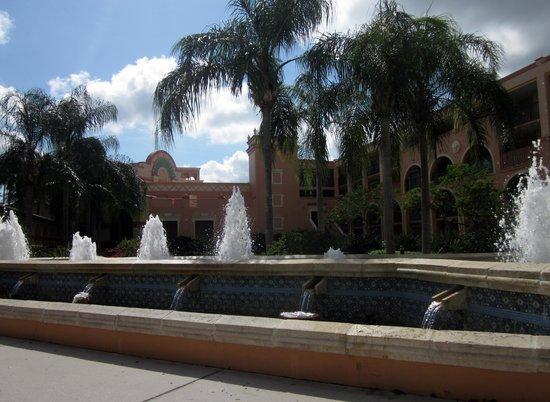 Disney's Coronado Springs Resort: View in front of Casita 1 and 2 - Great reading spot